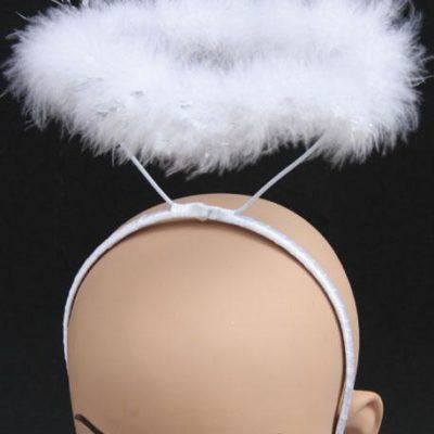 Auréole d'ange serre-tête blanc sur mannequin