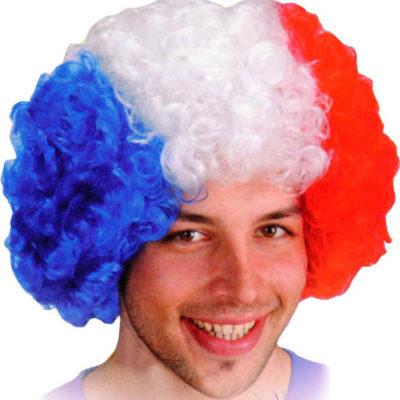 perruque-frisee-bleu-blanc-rouge