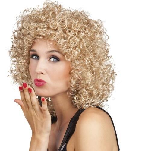 Perruque bouclée blonde - Aux 1001 fêtes