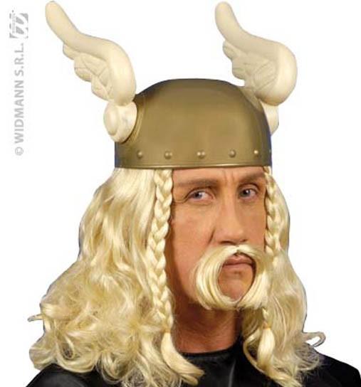 Perruque viking blonde