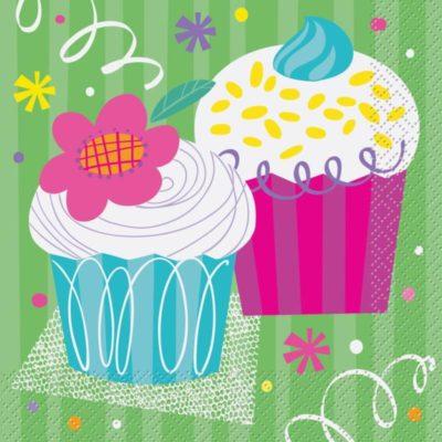 serviette-cup-cake