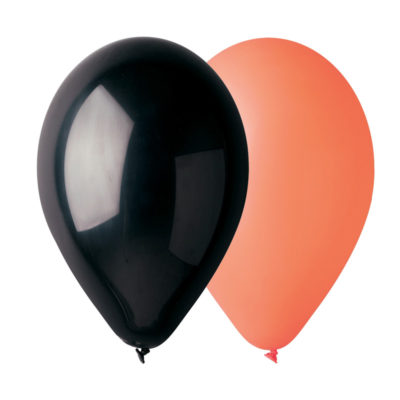 sachet-50-ballons-orange-noir