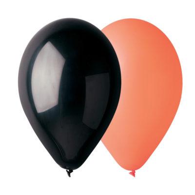 sachet-50-ballons-orange-noir