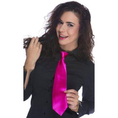 cravate-fluo-rose